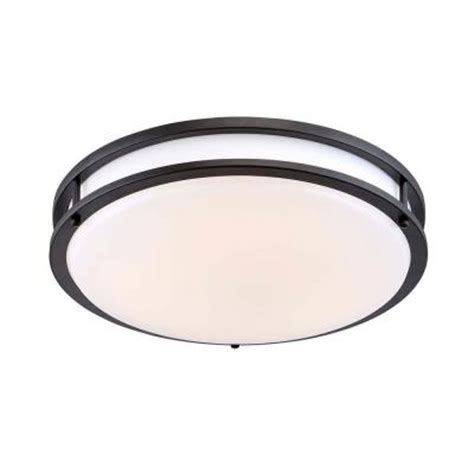 envirolite 16 in rubbed bronze white low profile led
