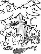 Coloring Toys Pages Christmas Printable Holiday Recommended sketch template