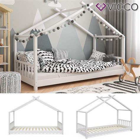 Kinderbett Holz 90x200 by Vicco Hausbett Kinderhaus Kinderbett Design 90x200cm Holz Wei 223