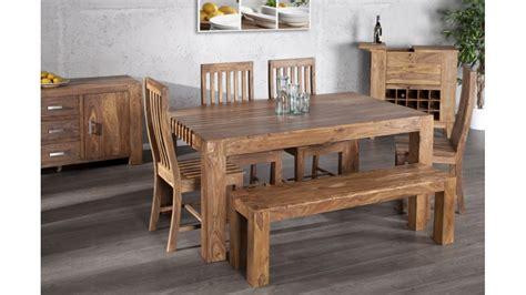 chaise de salle a manger en bois salle à manger en bois design betani bois massif bois