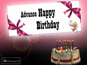Advance Happy Birthday | www.pixshark.com - Images ...