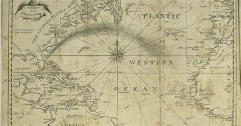 atlantic ocean map printable frame  nursery
