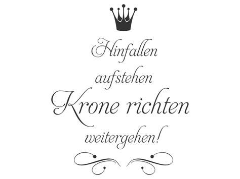 Bild Krone Richten by Wandtattoo Krone Richten Weitergehen Wandtattoos De