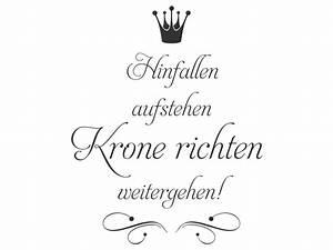 Spruch Krone Richten : wandtattoo krone richten weitergehen ~ Markanthonyermac.com Haus und Dekorationen
