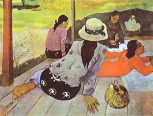 Reproduction Tableau Sur Toile : reproduction de gauguin la sieste ~ Dailycaller-alerts.com Idées de Décoration