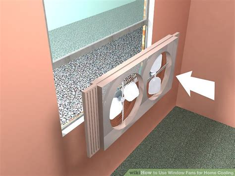 thru wall circulating the best way to use window fans for home wikihow