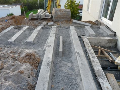Garten Und Einfahrt Werden Vorbereitet Hausbau