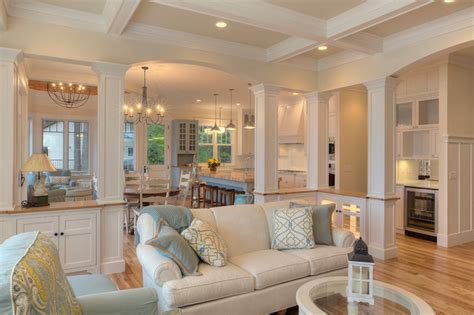 classic cottage beach style living room  metro