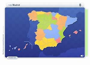 Mapa interactivo de España Provincias de España Juegos Geográficos Mapas Interactivos de