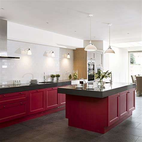 Kuche Rot by Kitchen Colour Ideas Home Trends Ideal Home