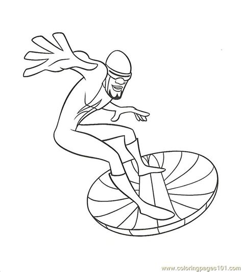 fro zone coloring page   incredibles coloring