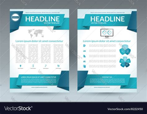Brochure Templates Size Flyer Brochure Layout Template A4 Size Royalty Free Vector