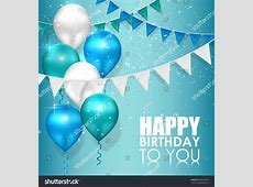 Happy Birthday Colors On Blue Water Stock Illustration