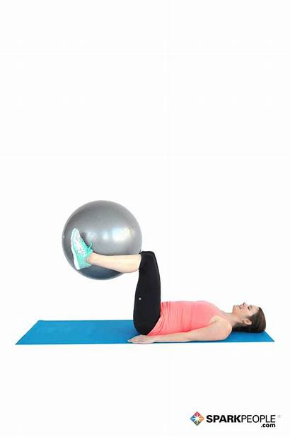 Ball Crunch Reverse Exercise Exercises Sparkpeople