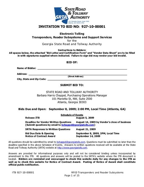 invitation  bid