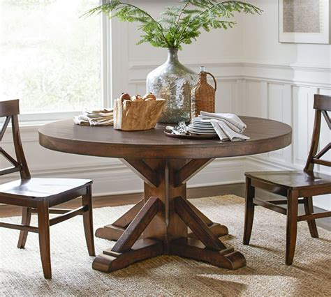 French restoration tuscan farmhouse dining table a&e wood designs finish: 30 Best Collection of Seadrift Toscana Pedestal Extending ...