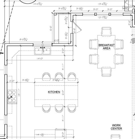 size of kitchen island with seating kitchen island size