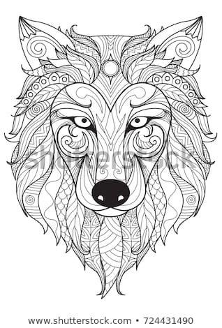 Detail Zentangle Wolf Coloring Pagetattoo T Varastovektori 330322592 - Shutterstock