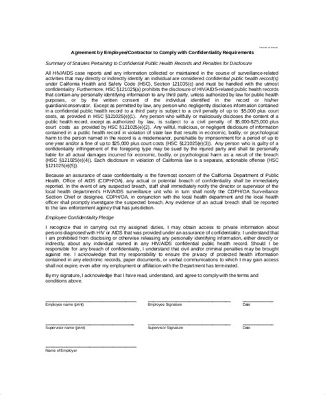 sample contractor confidentiality agreement