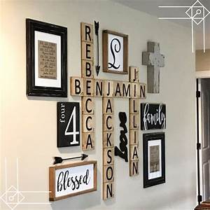 DIY Farmhouse Scrabble Wall Art Decorating Ideas - DIY