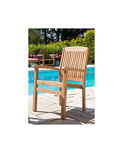 inspiring furniture uk  solid teak stacking garden