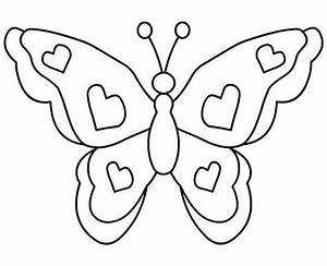 Cute Butterfly Clipart Black And White - Letters