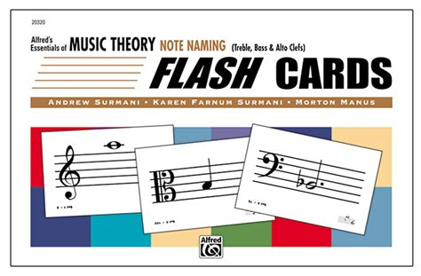 Essentials Of Music Theory Note Naming Flash Cards