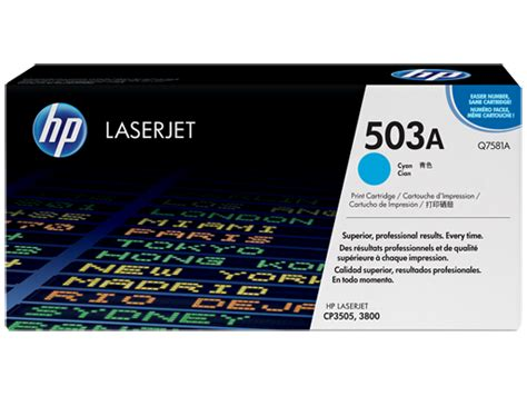 HP 503A Cyan Original LaserJet Toner Cartridge (Q7581A