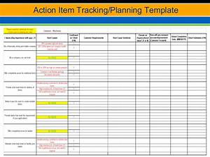six sigma sales marketing With action item tracker template