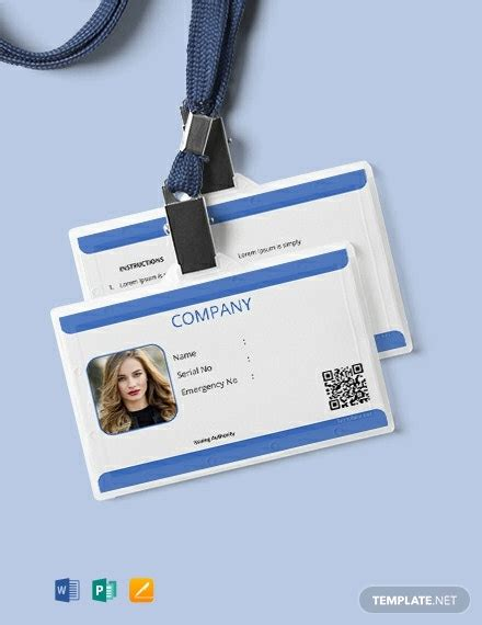 id card templates word  psd indesign