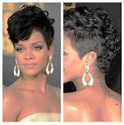 Short Hairstyles Hair Cut Style Mohawk Rihanna Blonde Hairstyle