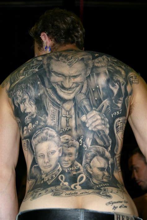 tatouage de johnny hallyday