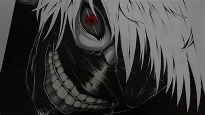 Ghoul Kaneki Tokyo Anime Ken Eyes Drawing