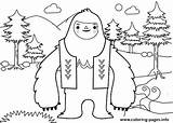 Yeti Coloring Everest Printable Abominable Snowman Template sketch template