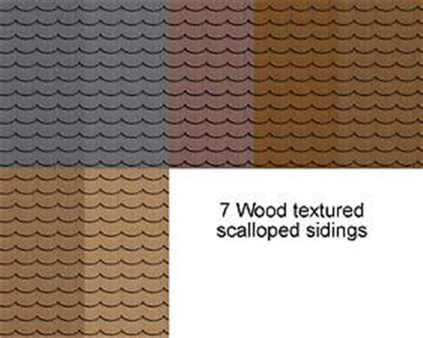 mod  sims wood textured scalloped siding updated