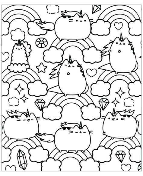 pusheen cat coloring pages bltidm