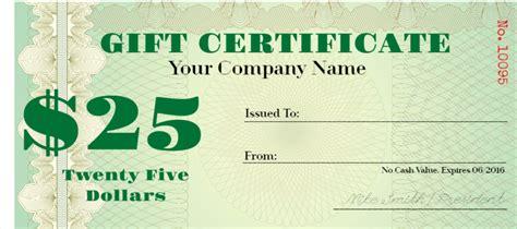 printable money gift certificate    print