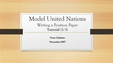 write  position paper  mun youtube
