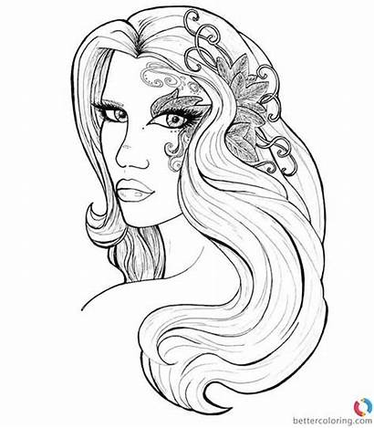 Coloring Pages Hair Hipster Printable Adults
