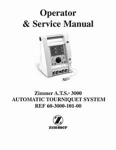 A T S  3000 Tourniquet Operator And Service Manual Revised