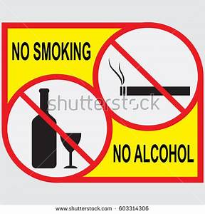 No Smoking No Alcohol Sign Stock Vector 598595690 ...