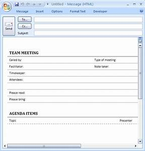 Outlook meeting invitation template baskanidaico for Outlook meeting minutes template