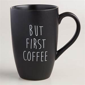 But First Mugs, Set of 4 World Market