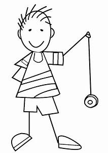 Free coloring pages of y is for yoyo
