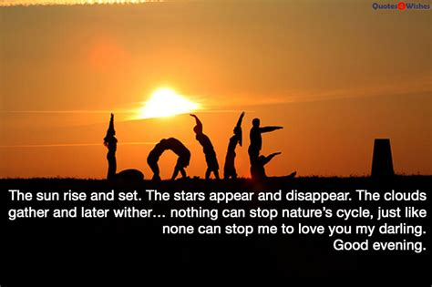 lovely good evening quotes  wishes