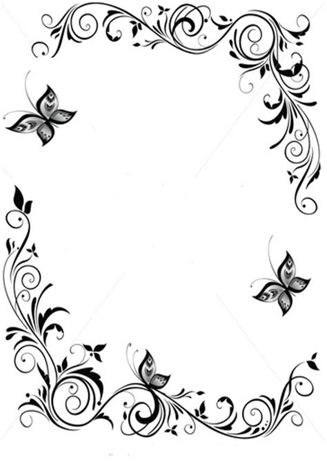butterfly border black and white picture butterfly borders clipart best