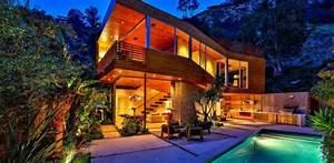 Maison Los Angeles : splendide maison bois mise en vente sur les collines d ~ Melissatoandfro.com Idées de Décoration