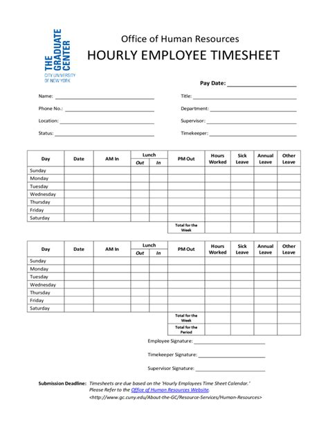 hourly timesheet template   templates   word