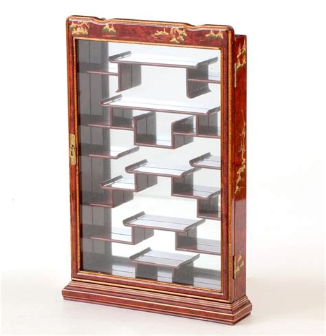 decorative wall curio cabinets asian inspired wall mounted curio cabinet ebth