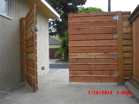 double wooden gate design